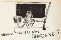 vintage illustration teachers gun