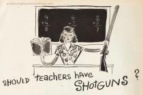 vintage illustration teachers gun