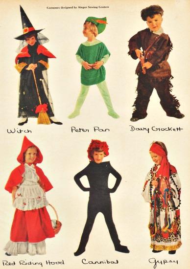 vintage Halloween costumes 1950s