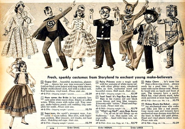 halloween costumes catalog 1950s