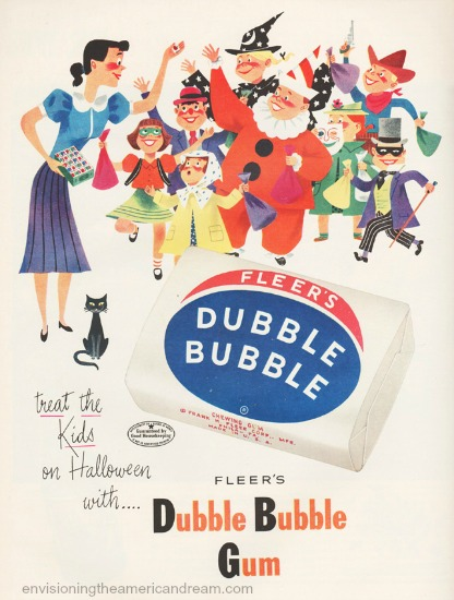 vintage Halloween double bubble gum ad