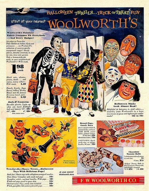 halloween woolworths ad 1950s