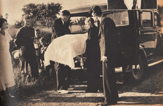 vintage photo illustration funeral and hearse