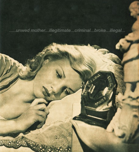 "troubled woman in bed Vintage photo illustration ""True Love and Romance "" Magazine"
