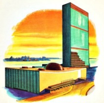 Vintage illustration United Nations