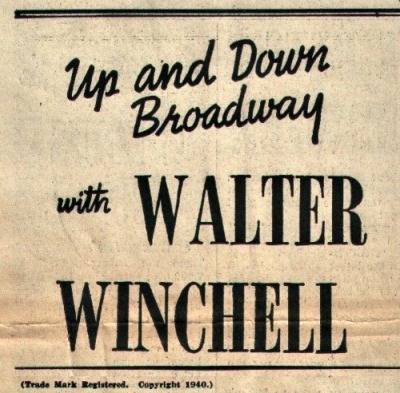 Walter Winchel Newspaper