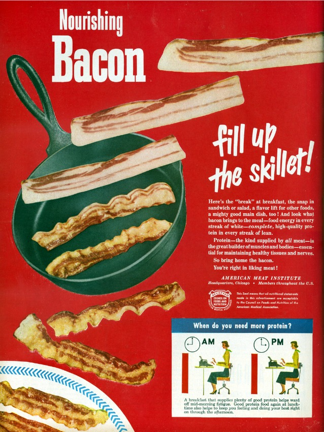 vintage ad bacon