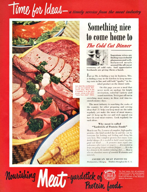 Vintage ad Cold Cuts American Meat Institute