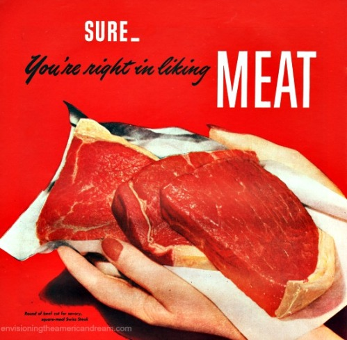 Vintage ad meat
