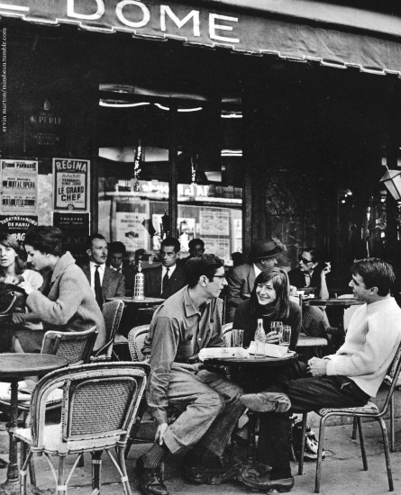 outdoor Paris cafe 1950s