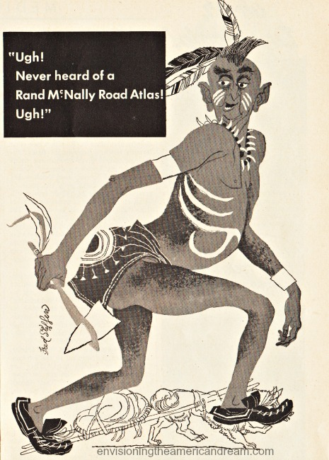 vintage illustration racist picture of Indian