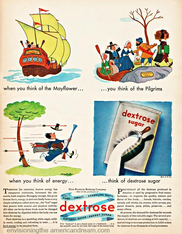 vintage ad Dextrose Sugar Thanksgiving Pilgrims