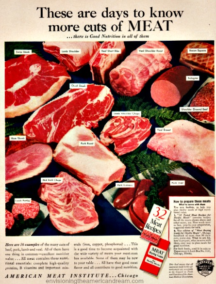 WWII Vintage ad for Meat