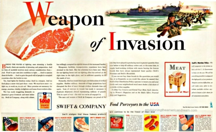 WWII ad Swifts Meat is weapon of Invasion