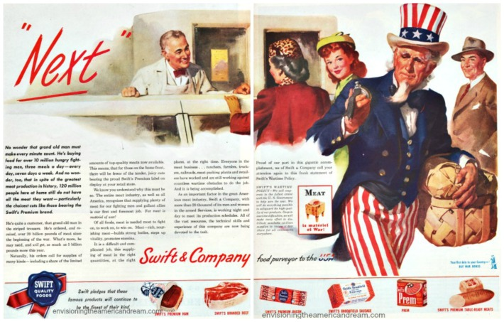 WWII ad Meat Uncle Sam