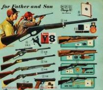 Vintage catalog page guns