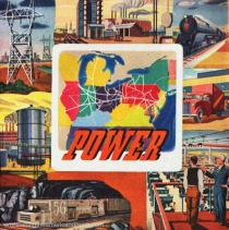 Vintage ad illustration Energy and Power