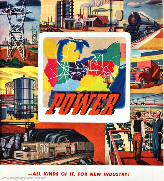 vintage illustration celebrating Energy power