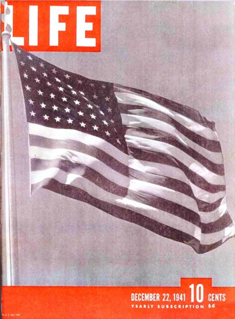 Life Magazine December 22, 1941 Cover flag waving