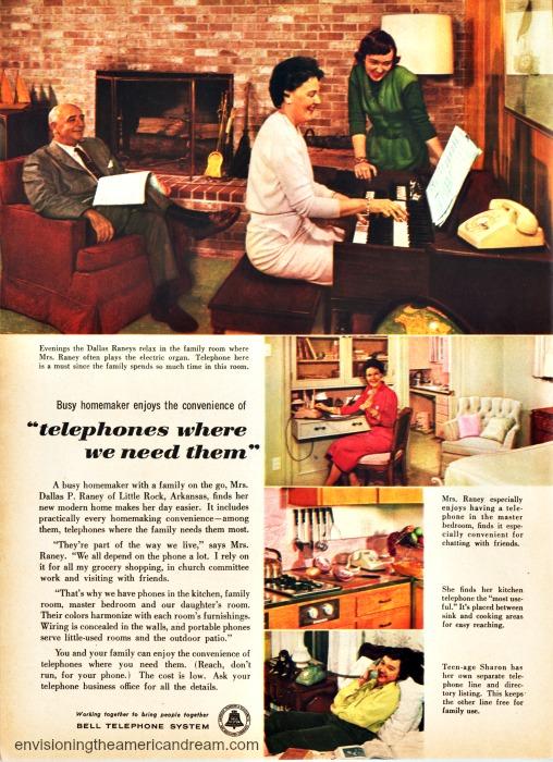 Vintage telephone ad 1957