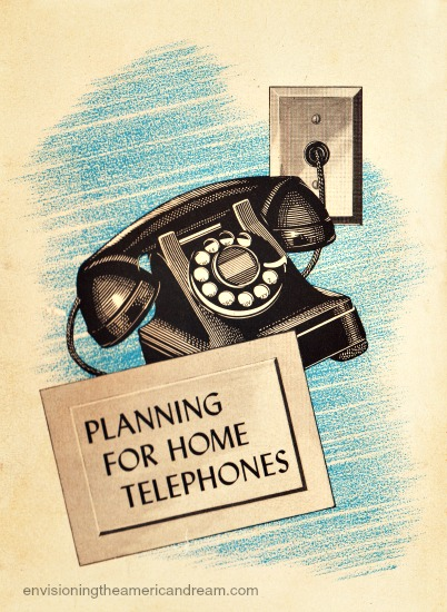 vintage Planning new home telephones booklet