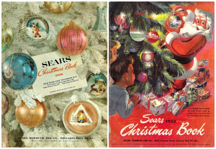 Xmas catalogs Sears 1958 1952