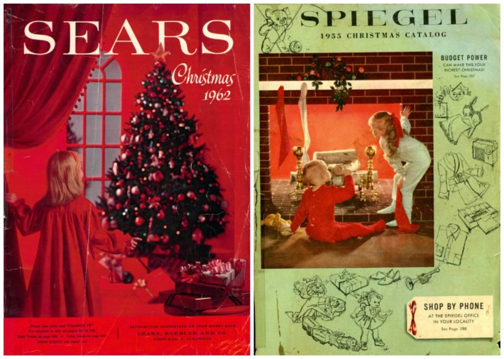 Xmas catalogs Sears 1962 Spiegel 1955