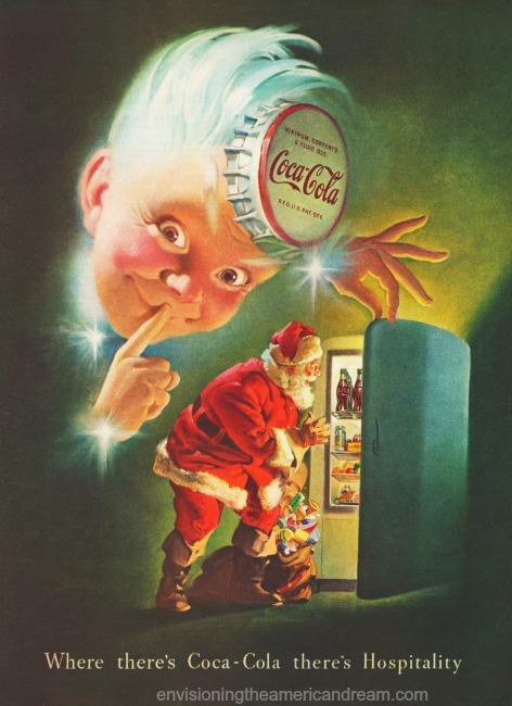 vintage christmas coke ad