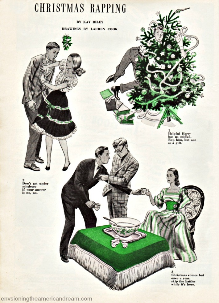 Vintage Xmas article 1946 vintage illustrations