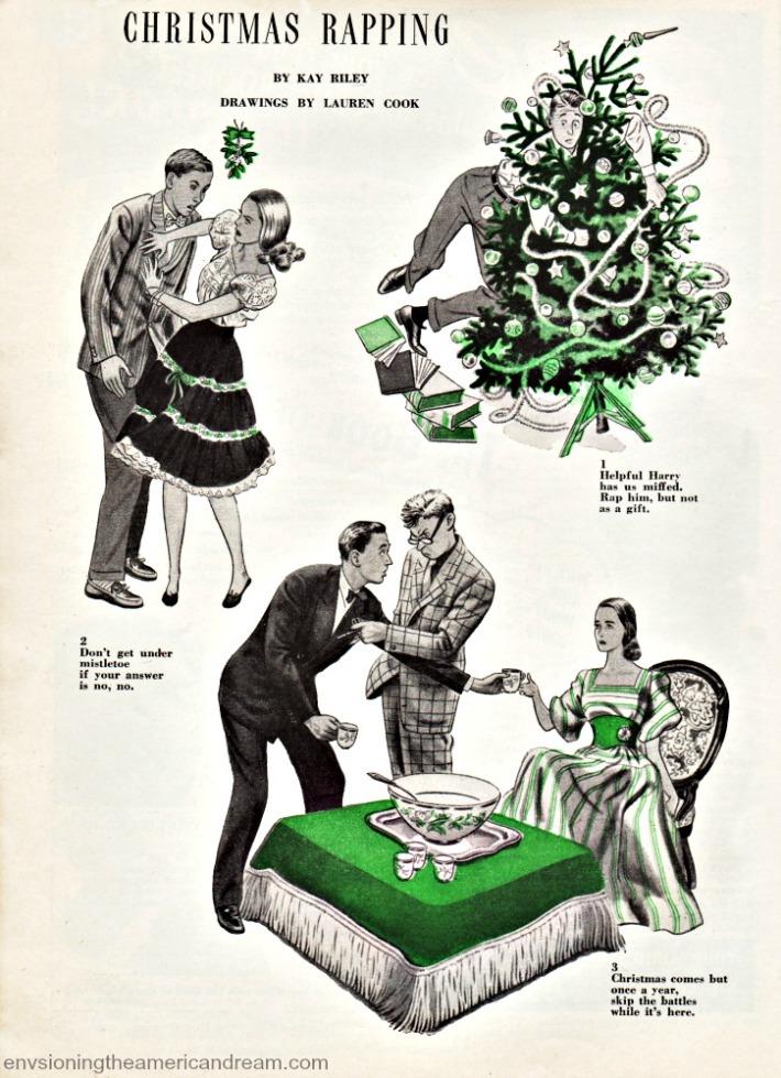 Vintage Xmas article 1946 vintage illustrations
