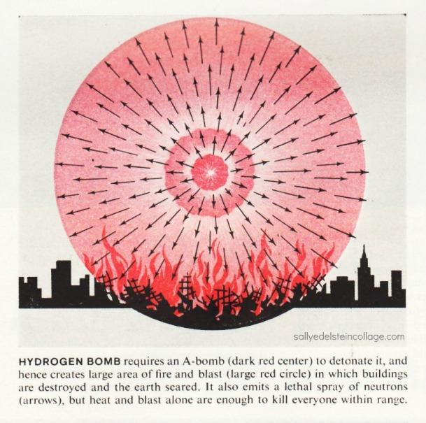 Effects of Hydrogen Bomb . Illustration Life Magazine 1961