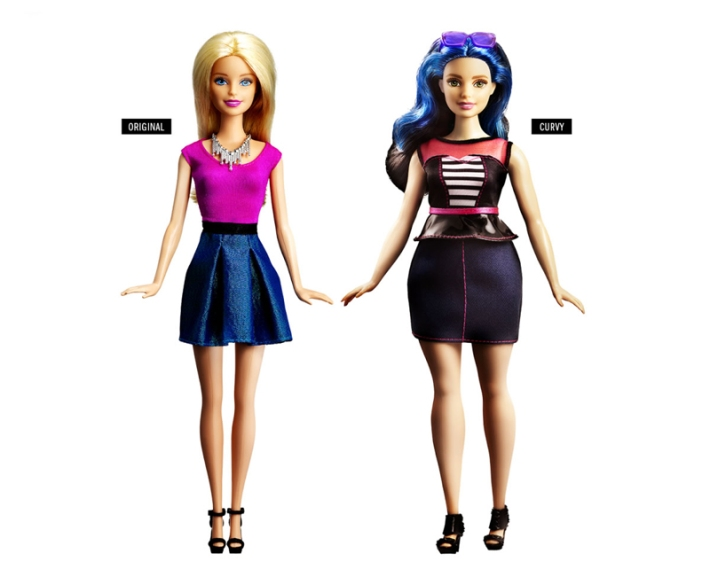 new barbie curvy and original Barbie