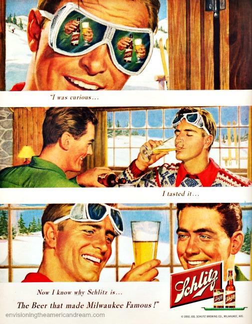 Vintage ad Schlitz Beer 1950