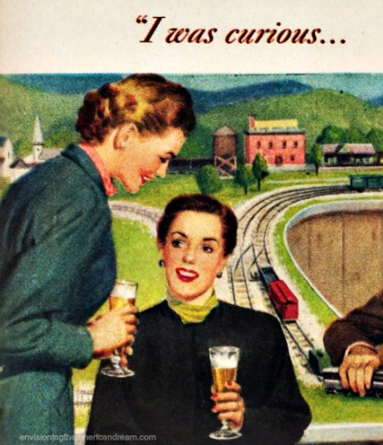 Vintage ad Schlitz Beer 1949 illustration women drinking beer