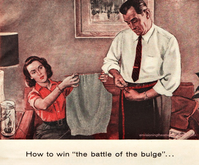vvintage illustration man measuring his waist How to Win the Batle of the Bulge