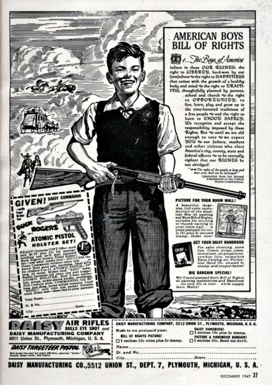vintage ad Daisy Guns American Boys Bill of Rights