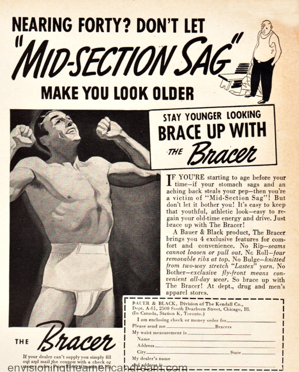 vintage ad The Bracer Mens slimming garment