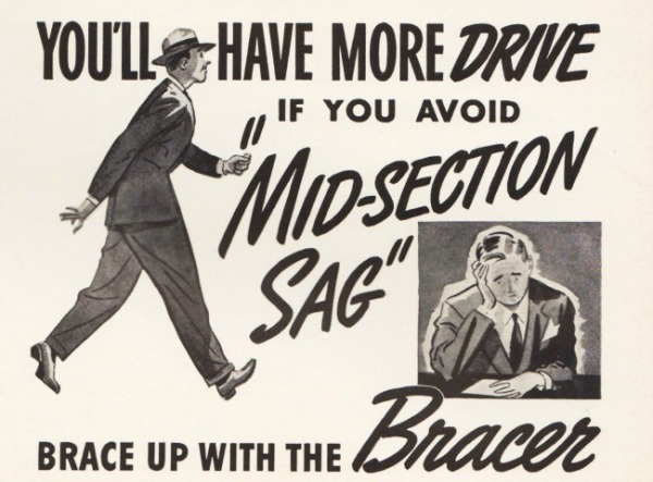 Vintage advertisement The Bracer mens physique