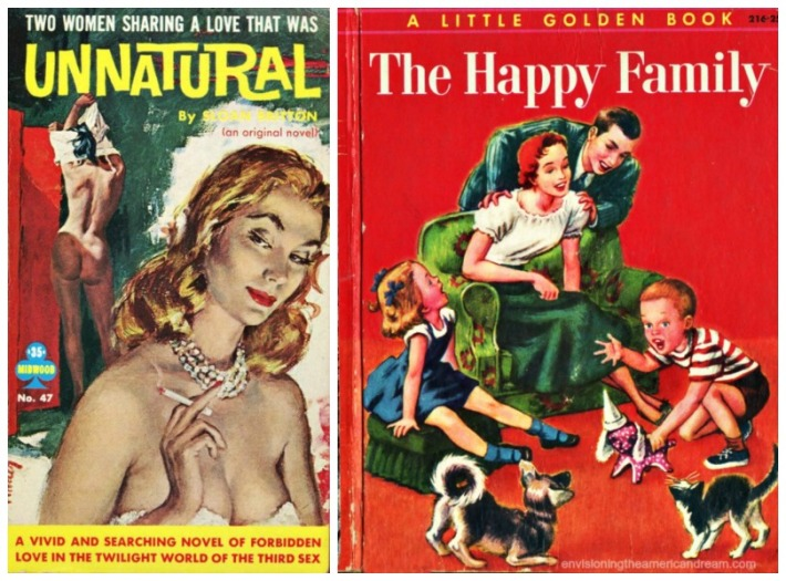collage Pulp fiction Unnatural The happy Family
