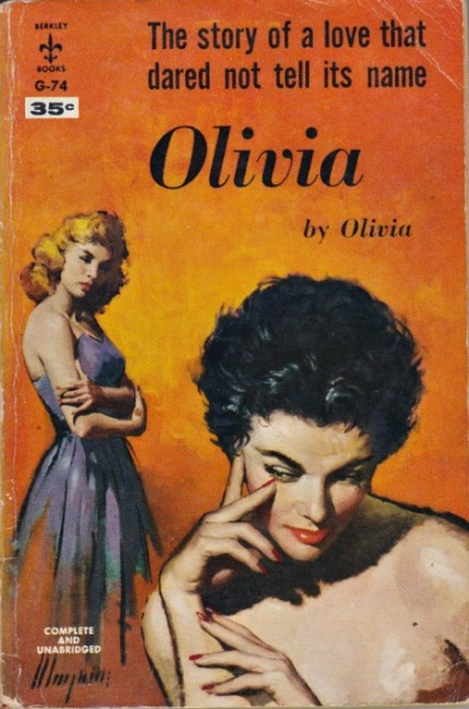 vintage book cover Olivia Lesbian Fiction