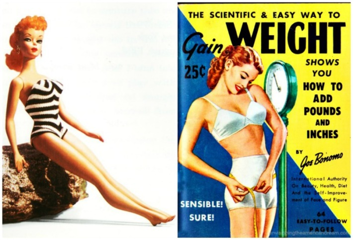 collage Barbie and Vintage book How to Gain Weight