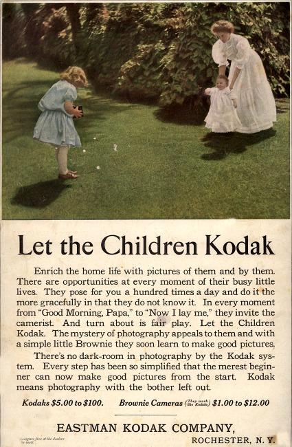 Vintage Kodak Advertisement 1909