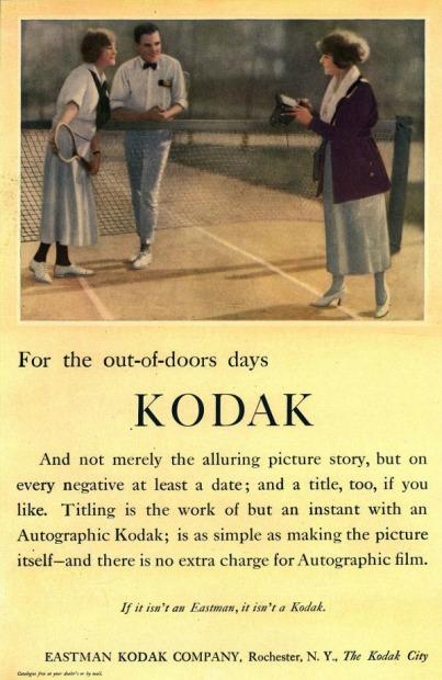 Vintage Kodak Ad 1920