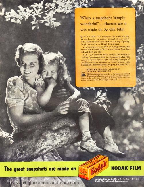 Vintage Kodak advertisement 1940 Mother and daughter