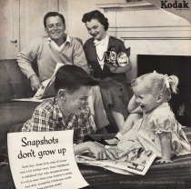Happy 1950s Family Vintage Kodak Camera ad