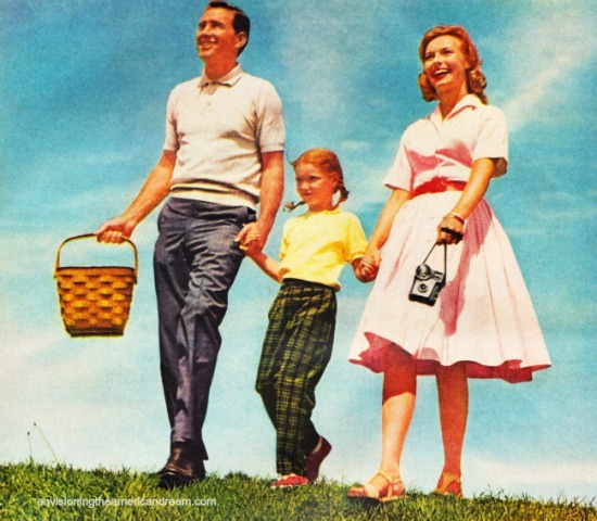Happy family 1950s