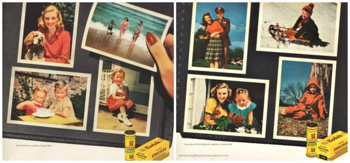 Vintage Kodak scrapbook snapshot memories