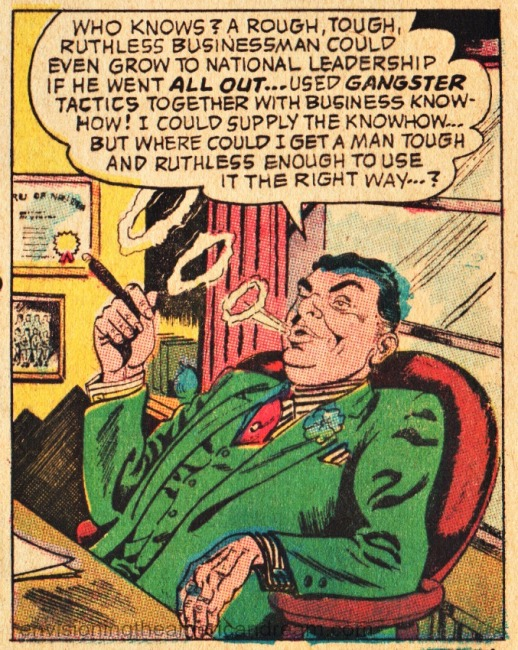 Vintage comic Businessman