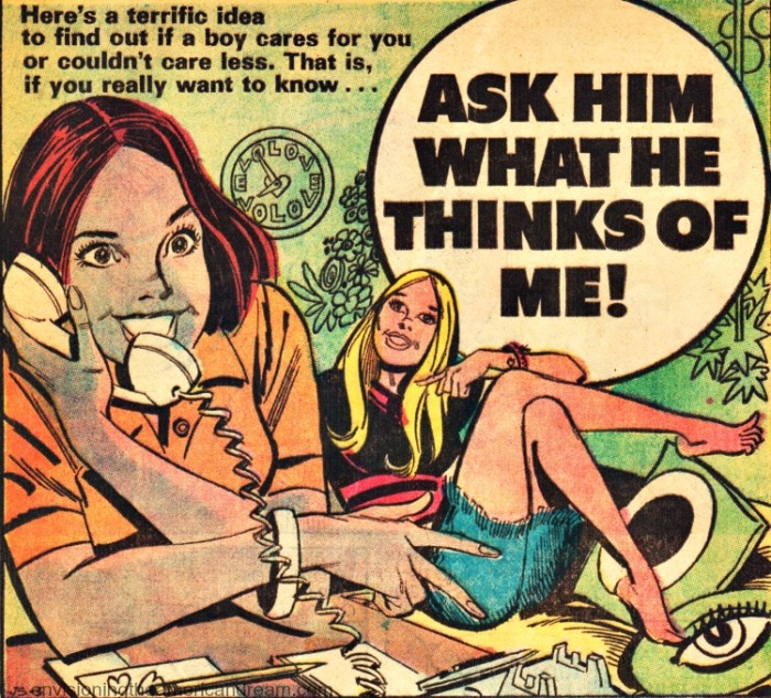 Vintage Comic Book Young Romance 1973