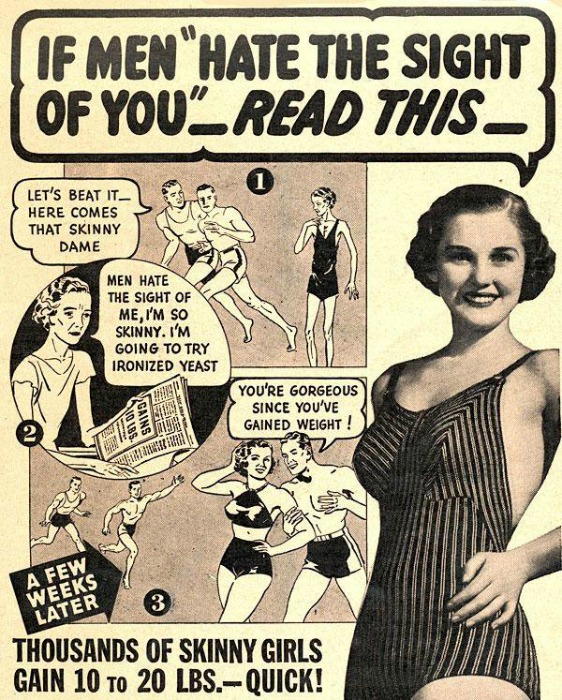 Vintage ad Gain Weight for skinny girls